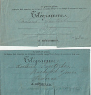 LOT De 9 TELEGRAMMES (avant 1900) Adressés à ROCHEFORT - 1877-1920: Semi-Moderne