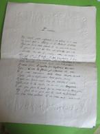 Grande Lettre  à 2 Volets /Papier Gaufré Au Pourtour/L'ECOLIER/ ècriture à La Plume/PARISOT/ Prose Morale/1905   VPN312 - Diploma & School Reports