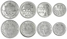 Uzbekistan Set 50 100 200 500 Som 2018 Km New SC UNC - Uzbekistan