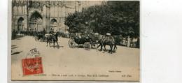 AUXERRE  FETES DU 2 AVRIL 19O8 LE CORTEGE PLACE DE LA CATHEDRALE TOP - Auxerre