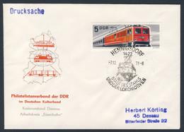 DDR Germany 1973 Brief Cover - Hennigsdorf, Stadt Des Stahls Und Lokomotiven / Steel And Rolling Mill, Locomotives - Trains