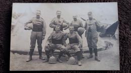 CPA PHOTO DUVAU TROUPES DU MAROC OC LA C H R DU 13 EME TER CAPITAINE FAVRE 1914 SOLDATS MILITAIRES - War 1914-18
