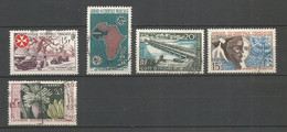 Timbre Colonie Française AOF Oblitéré N 63/67 - Usati