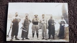 CPA PHOTO GROUPE D HOMMES SOLDATS MILITAIRES CUISINIERS ? DE LA 4 EME CIE GUERRE 1914  MARRAKECH GUILLEMINOT - War 1914-18