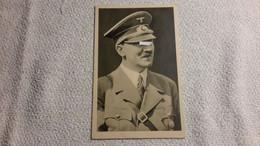 Postkarte Adolf Hitler 1938 Stempel Sudetenfahrt  Gelaufen Karte - 1939-45