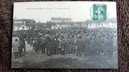 CPA SAINT JUNIEN HTE VIENNE LE CHAMP DE FOIRE ANIMATION 1912 - Saint Junien