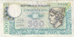 Italia - Italy 500 Lire 20-12-1976 Pk 95 Ref 1571-3 - 1000 Liras