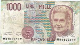 Italia - Italy 1.000 Lire 3-10-1990 Pk 114a Ref 1586-2 - 1000 Liras