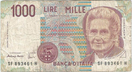 Italia - Italy 1.000 Lire 3-10-1990 Pk 114c Ref 1588-2 - 1000 Liras