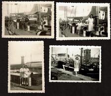 4 Photos 9 X 6 Cm - Ostende - Port - Bateaux De Pêche O105 - Ronny - Voir Scan - Plaatsen