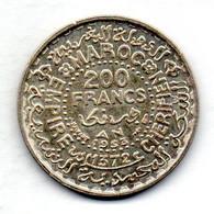 MOROCCO, 200 Francs, Silver, Year AH 1372 (1953), KM #Y53 - Marokko