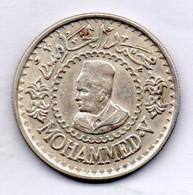 MOROCCO, 500 Francs, Silver, Year AH 1376 (1956), KM #Y54 - Marokko