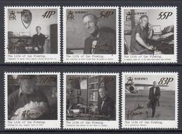 """2014 Alderney Ian Fleming Writer Literature Spy """"James Bond""""! Films Complete Set Of 6 MNH - Alderney"""