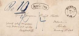 DR Brief Auslagen K2 Warburg 16.11.72 Gel. Nach Hörde - Briefe U. Dokumente