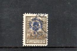 LITUANIE 1926 O - Lituania