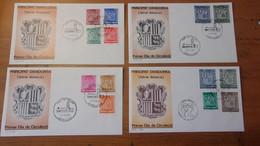 ANDORRE ESPAGNOL (4 Enveloppes) Armoiries De La Vallée - Non Classés