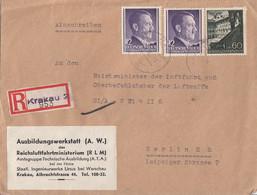 GG R-Brief Mif Minr.2x 75,49 Krakau - Occupation 1938-45