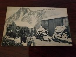 CP 74 CHAMONIX MONT BLANC HALTE AUX  GRANDS MULETS REFUGE CHALET MONTAGNE - Chamonix-Mont-Blanc