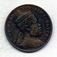 ETHIOPIA, 1/100 Birr, Copper, Year 1889, KM #9 - Ethiopië