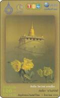 Thailand  Phonecard 12call Blumen Flower Fleurs Temple - Flores