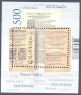 Slovenia 2017 Mi.Nr. 1265 Bl 101 MNH (**)   The 500th Anniversary Of The Reformation - Slovenië
