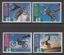 2013 Norfolk Island FMX Motorcycle Challenge Complete Set Of 4 MNH - Norfolk Eiland