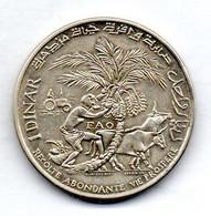 TUNISIA, 1 Dinar, Silver, Year 1970, KM #302 - Tunesië