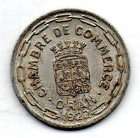 FRENCH ALGERIA, CHAMBRE DE COMMERCE, 25 Centimes, Aluminum, Year 1922, KM #TnE5 - Algerije