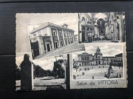 SALUTI DA VITTORIA (RAGUSA)  1955 - Vittoria