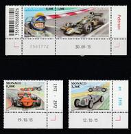 Monaco 2016 : LUXE !!! - N° 3023 à 3026 - Peterson - March 711 - Auto Union Type C  - NEUF** -  En Coin Daté - - Nuovi