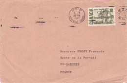 Canada 1967 Lettre 1 Timbre - Brieven En Documenten