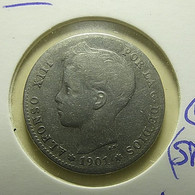 Spain 1 Peseta 1901 Silver - First Minting