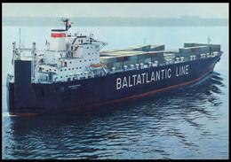 "RUSSIA POSTCARD Mint BALTIC SHIPPING Leningrad SHIP ""Magnitogorsk"" CARGO BATEAU SCHIFF TRANSPORT BSCo K1 USSR - Commercio"