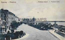 144149 SLOVAKIA POZSONY PRESSBURG BRATISLOVA FADRUSZ QUAY POSTAL POSTCARD - Slovakia
