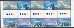 Australia Antarctic Territory 2011 'Icebergs'  Mint Never Hinged Gutter - Unused Stamps
