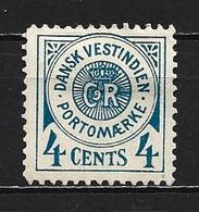 1873 DENMARK WEST INDIES 4C. POSTAGE DUE TYPE I MICHEL: 2 NO GUM - Deens West-Indië