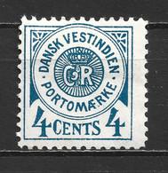 1873 DENMARK WEST INDIES 4C. POSTAGE DUE TYPE II MICHEL: 2 MH * - Deens West-Indië