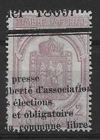 Timbre Pour Journaux N° 7 Oblitéré, Cote: 25€ - Newspapers