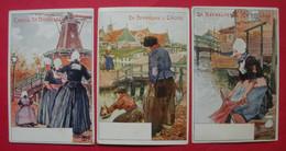 Publicité De Beukelaer 3 Cpa Verticales Cartes Postales Chocolat Chocolade Cacao Dos Scanné Belgique Belgie Malvaux SA - Otros