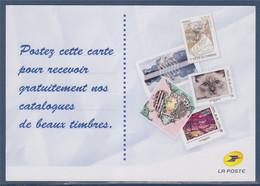 """Carte """"recevoir Gratuitement Nos Catalogues"""" émis Par La Poste Carte En Validité Permanente - Documenten Van De Post"""