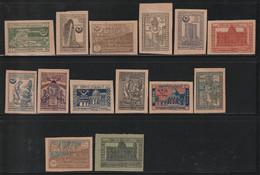 AZERBAIDJAN - N°30/44 * (1921-22) Vues Et Symboles - Aserbaidschan