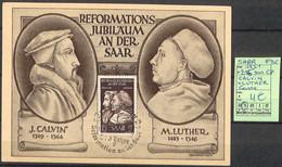 NB - [107384]TB//-Saare 1951 - N° 295, Sur CP, Calvin + Luther, Sarre, Félins - Saar