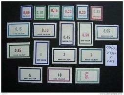 FICTIFS NEUF ** N°F140 à F157 SANS CHARNIERE (FICTIF F 140 à F 157) SERIE COMPLETE EMISSION DE 1961 Et 1962 - Phantomausgaben
