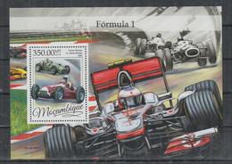 Mozambique, 2016, Formula I, Racing, Cars, MNH, Michel Block 1170 - Mozambique