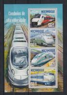 Mozambique, 2016, High Speed Trains, Railways, MNH Sheet, Michel 8474-8477 - Mozambique