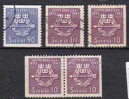 SE134 – SUEDE – SWEDEN – 1943 – THE SHOOTING ASSOCIATION – MI 300/01 USED - Gebruikt