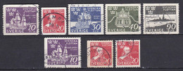 SE137 – SUEDE – SWEDEN – 1944 – NAVY SET – Y&T 307/311 USED 8 € - Used Stamps