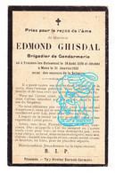 DP Brigadier Gendarme Rijkswacht- Edmond Ghisdal 23j ° Frasnes-lez-Buissenal Frasnes-lez-Anvaing 1898 † Mons Bergen 1922 - Andachtsbilder