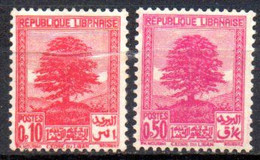 Grand Liban: Yvert N° 150/151*; 2 Valeurs - Unused Stamps
