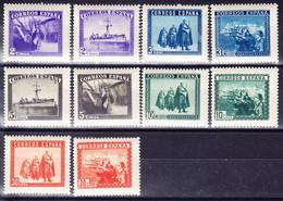 ESPAGNE, Y&T 633A/L ** MNH. (E79) - 1931-50 Nuovi